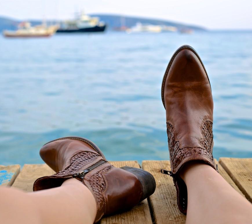 Sitting dock bay relax chill