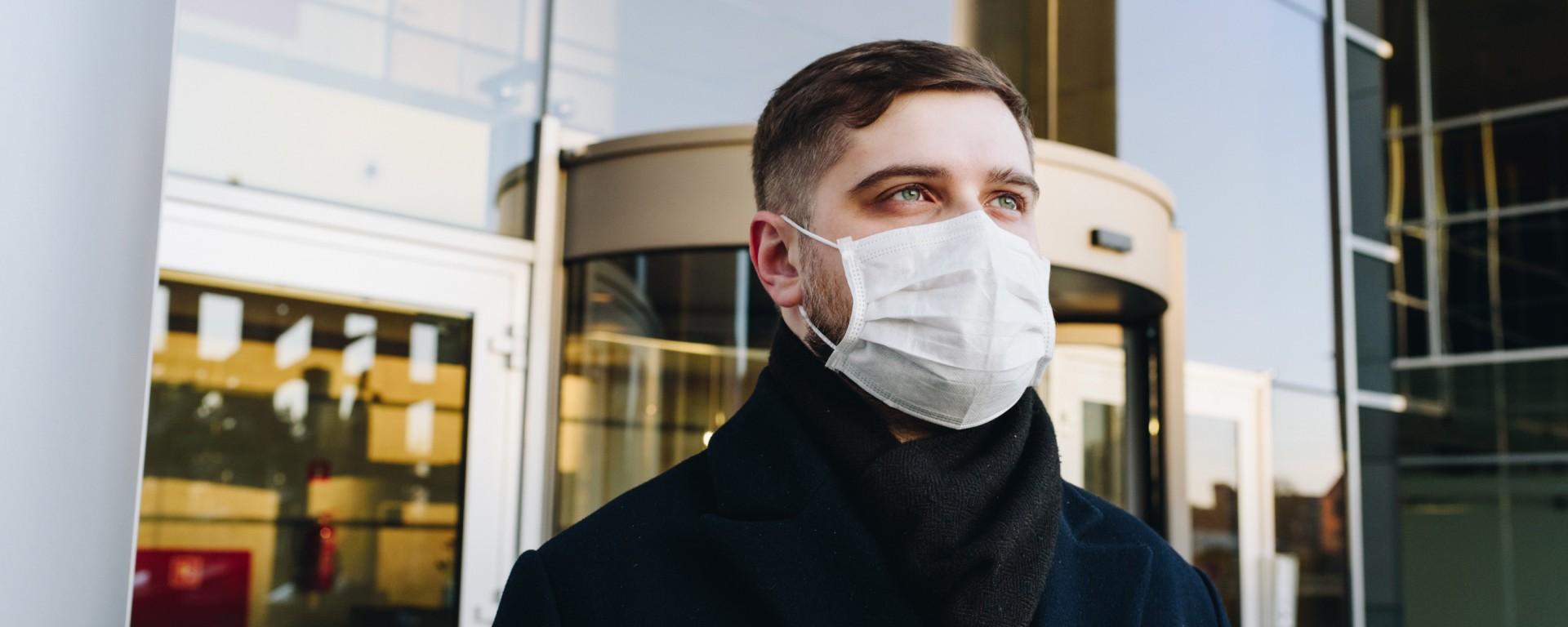 Man wearing mask, covid-19. Image: Anastasiia Chepinska on Unsplash