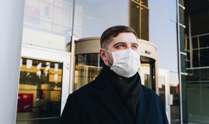 Man wearing mask, covid-19. Image: Anastasiia Chepinska on Unsplash