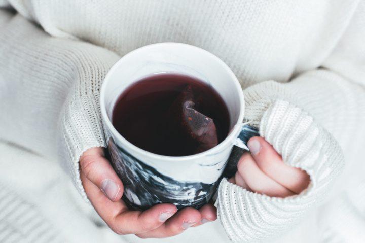 Herbal tea drinking warm
