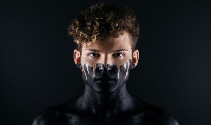 Man with makeup. Image: Noah Buscher on Unsplash