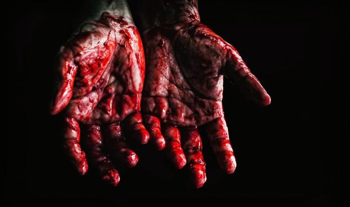 Bloody hands. Image: NEOSiAM 2021 via Pexels
