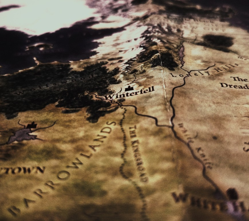 Game of Thrones map. Image: mauRÍCIO SANTOS on Unsplash